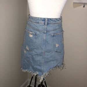 9fca04c41 Zara Skirts | Damage Denim Mini Skirt | Poshmark